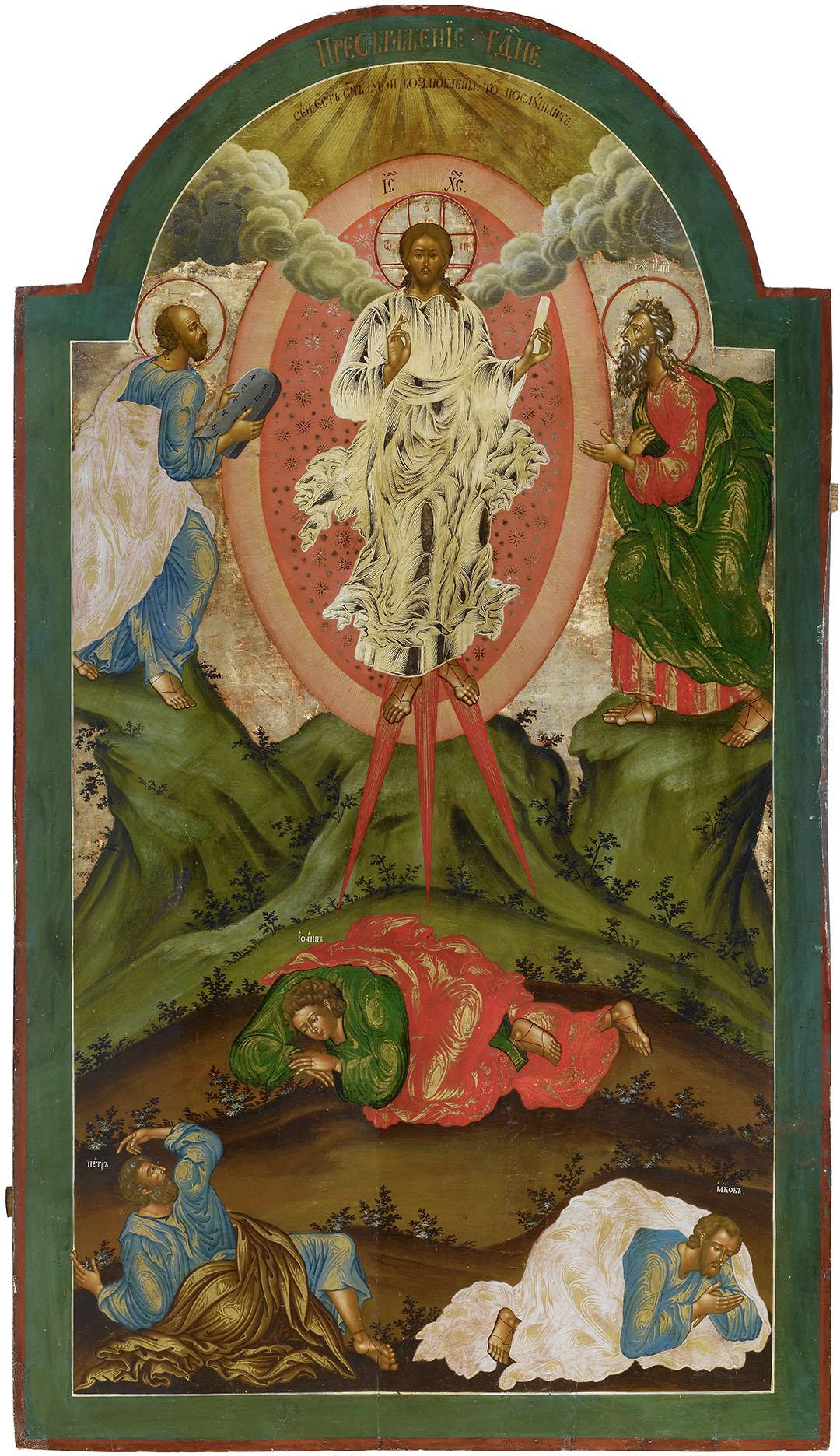 Икона «Преображение Господне». Конец XVIII – начало XIX вв. Дерево, левкас; темпера, масло, золочение