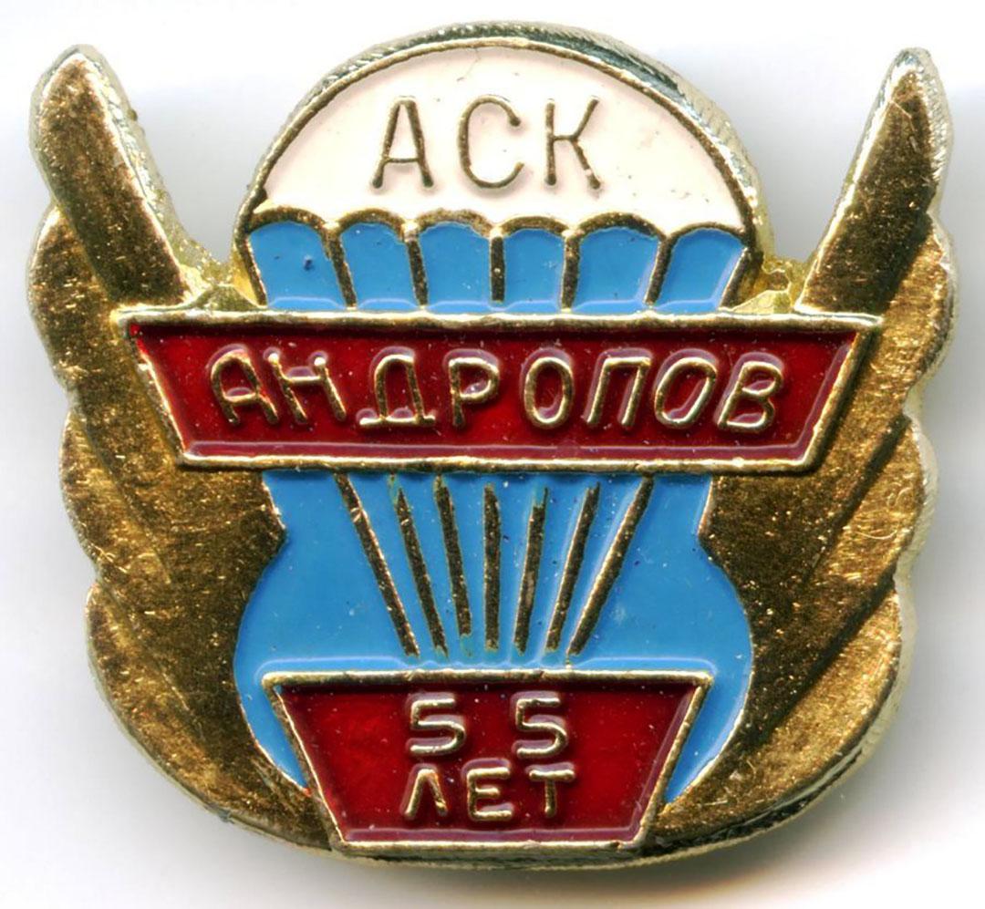 Значок к юбилею авиаклуба. 1980-е гг.